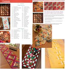 Holiday Table Runners by Table Topper U0026 Runner Patterns Erica U0027s Craft U0026 Sewing Center