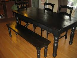 Distressed Black Dining Table Masculine Brown Painted Wooden Black Dining Table And Chairs