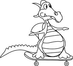 cartoon dragon very funny coloring page wecoloringpage