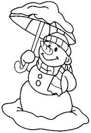 snowman christmas umbrella coloring snowman