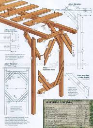 outdoor arbor swing plans u2022 woodarchivist