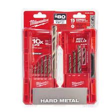 home depot black friday milwaukee milwaukee cobalt red helix drill bit kit 15 piece 48 89 2331