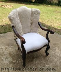 Upholstered Wingback Chair Painted And Upholstered Wingback Chair Hometalk