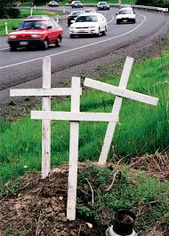roadside crosses roadside crosses a memorial and a message new zealand geographic