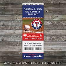 printable baseball ticket baby shower invitation