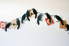 diy creepy crow garland salty canary