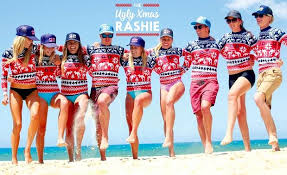 Australia The Ugly Xmas Rashie Has Your Festive Beachwear Needs