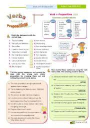 english exercises dependent prepositions