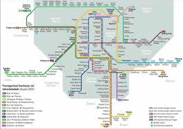 Map Of Jakarta Post The Picture Of Mass Transit And Station In Capital City At