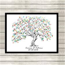 graduation guest book fingerprint tree canvas attendance signature guestbook for