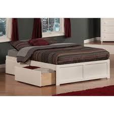 Bed With Attached Nightstands Modern Platform Beds Allmodern