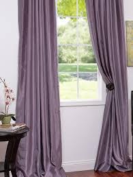 Dusty Curtains Smokey Plum Vintage Textured Faux Dupioni Silk Curtains Dusty