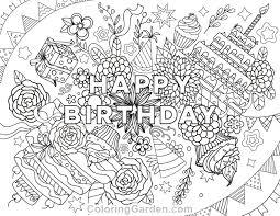 birthday coloring sheets birthday coloring page