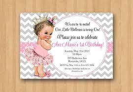 Princess Birthday Invitation Cards Princess 1st Birthday Invitations Plumegiant Com