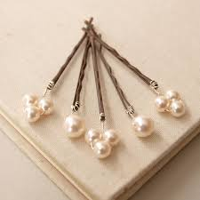hair pins bliss pearl bridal hair pins by jewellery made by me
