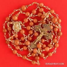 italian rosary italian goldstone bronze wire wrapped rosary rosary bay