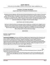 Electrical Engineering Resume Template Download Process Control Engineer Sample Resume