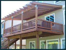 pergola and 2nd floor master bedroom walk out deck dream home