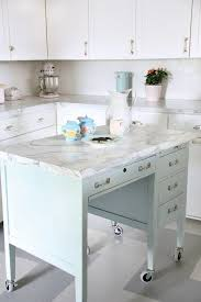 kitchen island marble top turn a desk into a kitchen island marble top marbles and hardware
