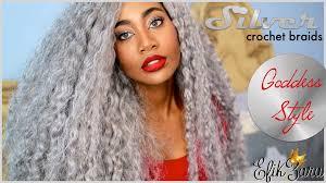 grey marley braiding hair silver gray crochet braids on zara done by edwige kondombo youtube