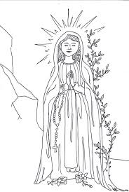 our lady of lourdes coloring page printable coloring pages
