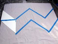 Grommet Chevron Curtains How To Make No Sew Chevron Curtains From A Drop Cloth Chevron