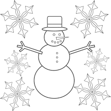 snowflakes coloring page u2013 barriee