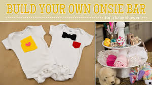 baby shower shirt ideas how to make onesie bar for a baby shower