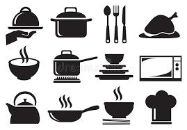 ustensil cuisine kitchen utensil vector icon set stock vector illustration of icons