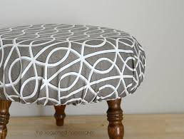 How To Make An Upholstered Ottoman by Diy Ottoman Makeover An Easy Way To Recover A Footstool