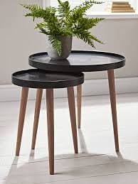 living spaces side tables new lina side tables charcoal dwelling inspiration pinterest