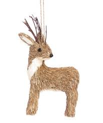 glitter deer ornament zulily