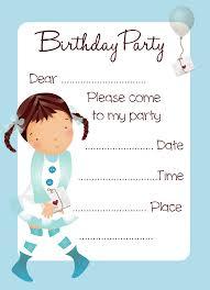 Bday Invitation Card Invitation Cards Free Printable Girls