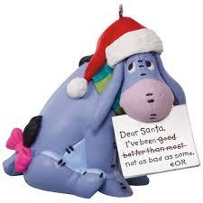 disney winnie the pooh eeyore a letter to santa ornament