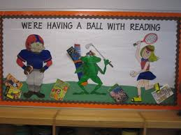 Sports Decorations Sports Bulletin Board For Reading Bulletin Boards Pinterest