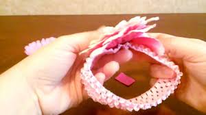 how to make a baby flower headband tutorial by shopbgd