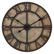 enthralling bryan map wall clock walmart com