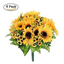 silk sunflowers artificial flowers 4 bouquet silk sunflowers dearhouse