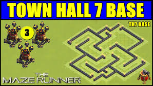 layout design th7 clash of clans bases droidz youtube google
