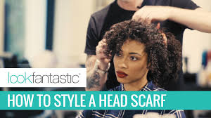 80s hair styles with scarves how to style a headscarf in curly hair youtube