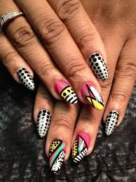 day 257 abstract dots and lines nail art nails magazine
