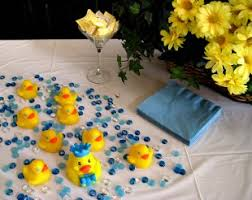 rubber duck baby shower decorations cheap and easy baby shower centerpiece idea blue stones for