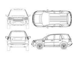 land rover drawing land rover freelander 2 blueprint download free blueprint for 3d