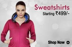 sweatshirts buy hoodies zippers sweatshirts for women online at