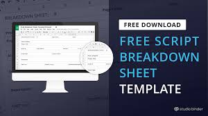 I Need A Spreadsheet Template Download Free Script Breakdown Sheet Template