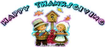 happy thanksgiving boy bird house animation gif