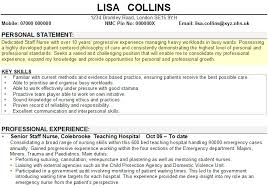personal statement example for cv