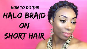 how to cut womens hair with double crown short hair tutorial how to do a halo braid on short hair youtube