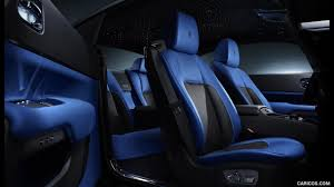 rolls royce wraith black badge blue interior seats door panels