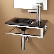 wall mount glass sink signature hardware bangor wall mount glass sink ebay